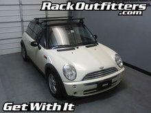 Mini Cooper 3DR Thule Rapid Traverse BLACK AeroBlade Roof Rack '03-'13