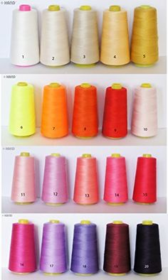 Assorted Colours 100 Polyester Threads Appx 3000m  One Roll No13  Salmon Pink *** Visit the image link more details.