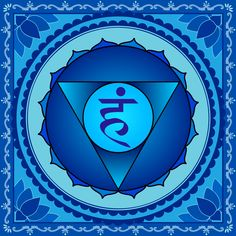 °Throat Chakra ~ The Throat Chakra is a centre of physical & spiritual purification. The Vishuddha Chakra is a place of purification & balancing. The breath that flows through the throat & therefore through this Chakra, plays a big role in this. Through the power of the breath in the Vishuddha Chakra harmful residues are removed from the body on a physical level & in the mental sphere the thoughts emotions, consciousness & subconscious are purified & harmonized.