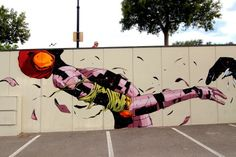 Deih - Enlarging Cosmos New Mural @ Ontinyent, Valencia
