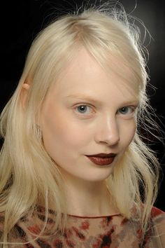 Supple skin and brown-toned lips at 3.1 Phillip Lim Fall 2013, by NARS