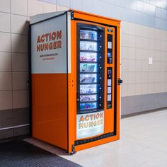 Now in England and coming soon to the U.S., Action Hunger's boxes give fruit, sandwiches, energy bars, clean socks, toothbrushes, and other necessities to any person given a card by a local shelter.