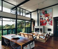 Open Living-Dining Space | photo Richard Powers | Dwell Magazine | House & Home