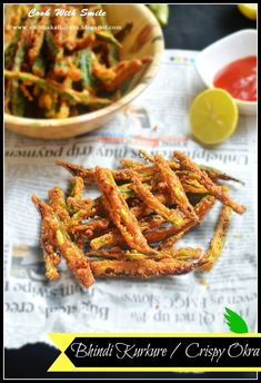 cook with Smile Indian Appetizers, Indian Snacks, Indian Food Recipes, Okra Recipes, Cooking Recipes, Healthy Recipes, Healthy Meals, Vegetarian Recipes, Recipies