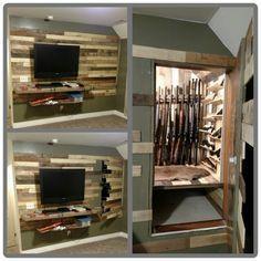 """""""Hidden Door to Gun Closet """" - https://www.stashvault.com/hidden-door-to-gun-closet/"""