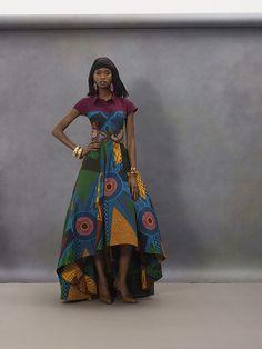 ♥AFRICAN FASHION ■ COLOURFUL BIG DRESS ■ Vlisco V-Inspired