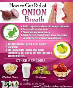 Prev post1 of 3Next Onions are used in many cuisines as they add a nice pungent flavor to dishes and salads. Plus, onions are a good source of vitamins C and B, folic acid and dietary fiber that provide many health benefits. But those who like to eat onions often complain about onion breath. A