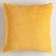 One of my favorite discoveries at WorldMarket.com: Mustard Yellow Velvet Throw Pillow