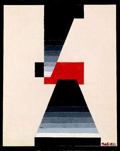 Ludwig Hirschfeld-Mack, Definite Red, 1922