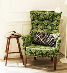 chair from Ikea Stockholm 2013 collection. It comes in this print and a couple of solids. I wonder if it's comfortable?