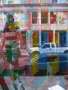 cross stitch window