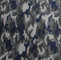 Navy Camouflage Dimple Mesh Poly Stretch Sports Knit Fabric