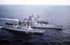 USS Deyo and USS Comte de Grasse - Spruance class Destroyers w… Go Navy, Royal Navy, Navy Mom, Navy Military, Army & Navy, Military Spouse, Uss Iowa, Navy Reserve, Us Battleships