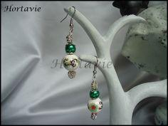 "Jolies boucles d'oreille ""Green chinese"" : Boucles d'oreille par hortavie"
