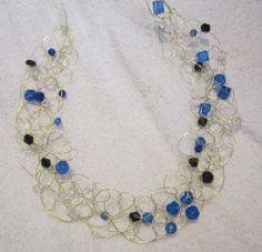 Crochet Wire Necklace Tutorial