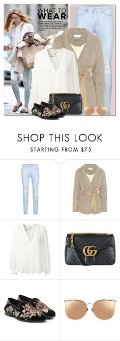 """""""Untitled #1900"""" by elena-777s ❤ liked on Polyvore featuring Étoile Isabel Marant, Erin Fetherston, Gucci, Alexander McQueen, Linda Farrow, OliviaPalermo, 2017 and springsummer2017"""