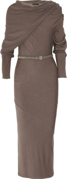 DONNA KARAN NEW YORK   Draped Crepejersey Dress