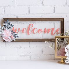 Welcoming home decor with die cuts and fancy cuts.