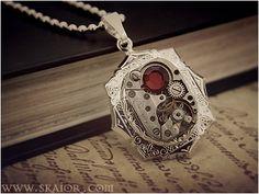 Steampunk Necklace Victorian Gothic Jewelry by ~Skaior on deviantART by Lauren Nelson