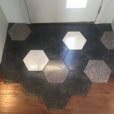 Image result for hexagonal wooden floor tiles