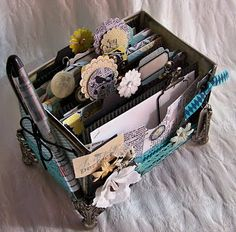 Eclectic Paperie---made from a Keurig coffee box!!