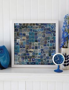 love the collage of blue stamps--Sweet Paul Magazine