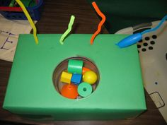 Great one for fine motor and task persistence since beading on the pipe cleaner will be more challenging