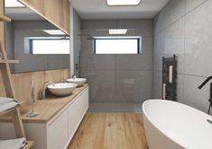 Kúpeľňa s industriálnymi prvkami Modern Bathroom, Toilet, Sweet Home, Bathtub, House, Design, Standing Bath, Funky Bathroom, Flush Toilet