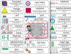 2nd grade common core / go math vocabulary word wall!