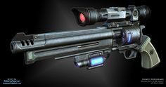 3d Art Portfolio of Ralphie Agenar -Atlas Pistol    Based of a borderlands 2 concept. Ralphie yet again shows a nice model and texture to go with it. Adding just a slight bit of neon seems to go along way into turning a gun to a sci-fi style. (boyluya.blogspot, 2012)