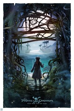 This piece was done by Poster Posse Pro Andy Fairhurst for our official collaboration with Disney for the latest Jack Sparrow tale: Pirates of the Caribbean: Dead Men Tell No Tales Pirate Art, Pirate Life, Captain Jack Sparrow, Caribbean Art, Pirates Of The Caribbean, Disney Art, Disney Pixar, Jack Sparrow Wallpaper, Jack Sparrow Quotes
