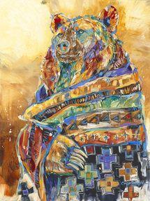 Bear Shaman 8 version 4 oil painting