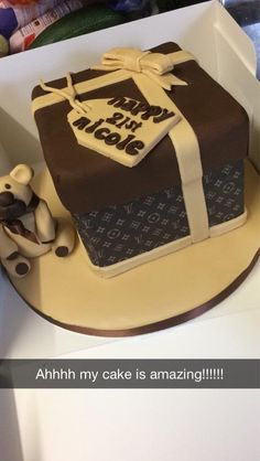 Louis Vuitton cake for my 21stb