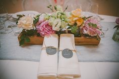 Detail of name tags on napkins at a wedding at the Quinta do Hespanhol in Portugal Name Tags, Sim, Rustic Wedding, Portugal, Wedding Flowers, Napkins, June, Wedding Inspiration, Weddings