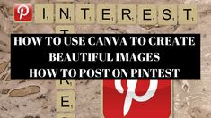 HOW TO POST ON PINTEREST - HOW TO USE CANVA (AVON) #pintrest #postonpinterest #pinterestmarketing #socialmedia  #socialmediamarketing