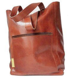 ea76c2c70b7 Shopper - schoudertas van bruin leder met slangenprint , unieke shopper  handgemaakt uiteraard van echt leer