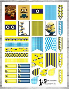 Free Printable Minions Planner Stickers | Ninja Mom Designs [ Copyright may apply, personal use only]