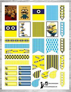 Free Printable Minions Planner Stickers | Ninja Mom Designs