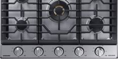 """Samsung - Chef Collection 36"""" Gas Cooktop - Stainless steel - Angle_Zoom"""