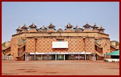 BURKINA FASO - Ouagadougou.  Maison du People, la più grande sala per spettacoli…