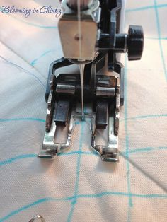 Quilt Cables with a walking foot.