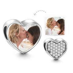 Personalize charms with your favorite pictures http://www.soufeel.com/soufeel-crystal-heart-charm-925-sterling-silver-memorable-charm.html