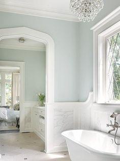 Modern Tudor master bath