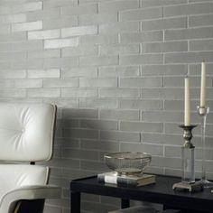 Fired Earth - Ladrillo White wall tiles (which look grey here). Grey Wall Tiles, Wall And Floor Tiles, Bathroom Shop, Bathroom Ideas, Eclectic Furniture, Fired Earth, Bathroom Design Inspiration, Home Design Decor, Home Decor