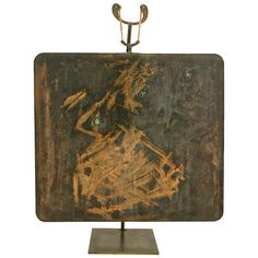 Rare Hollow Copper Gong by Harry Bertoia | From a unique collection of antique and modern sculptures at https://www.1stdibs.com/furniture/more-furniture-collectibles/sculptures/