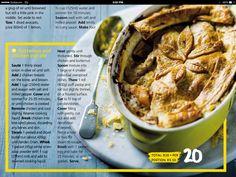 Butternut and chicken pot pie
