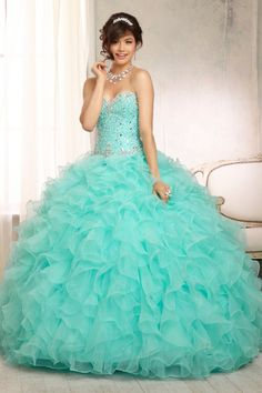 Ball Gown Sweetheart Beaded Bodice Quinceanera Dresses Floor Length