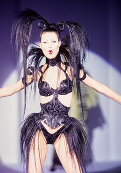Mugler Fall 1995 Couture Fashion Show - Shalom Harlow