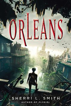 """Orleans (Book) : Smith, Sherri L. : """"Set in a futuristic, hostile Orleans landscape, Fen de la Guerre must deliver her tribe leader's baby over the Wall into the Outer States before her blood becomes tainted with Delta Fever""""--Provided by publisher. Ya Books, Good Books, Books To Read, Teen Books, Looks Cool, Love Book, Film, Book Lists, Science Fiction"""
