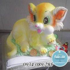 Bánh dựng 3D chú mèo con đáng yêu